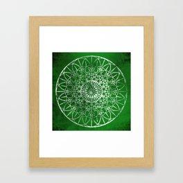 Fire Blossom - Emerald Framed Art Print