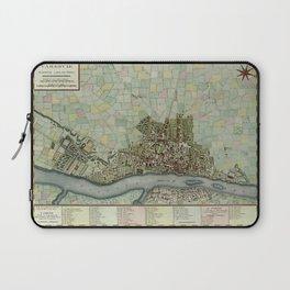 Map Of Warsaw 1790 Laptop Sleeve