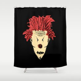 Evil Clown Hand Draw Illustration Shower Curtain