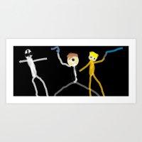 starwars Art Prints featuring starwars by bdevine