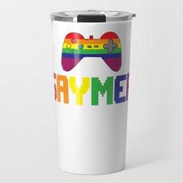 Gay Gamer Gaymer Gaming Pride Gift Travel Mug