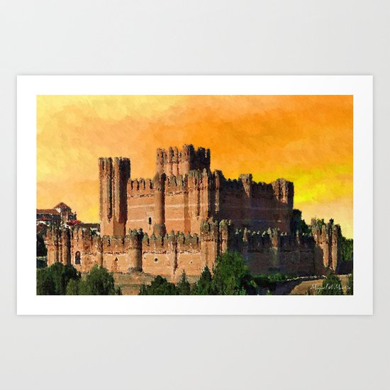 Majestic Walls the Evening Sun Art Print