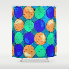 Circle of Colors 2 Shower Curtain