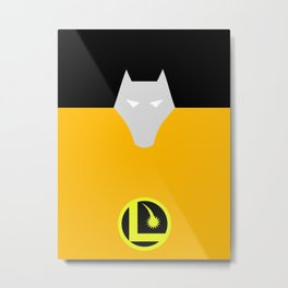 Minimalist Legion of Super-Heroes Poster - Timber Wolf Metal Print