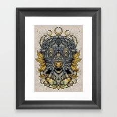 Buffalo Attack Framed Art Print