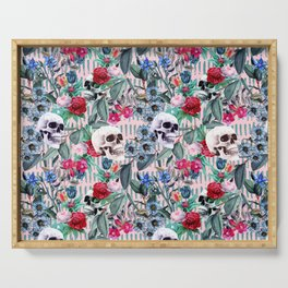 Flowers and Skulls (Pink) Serving Tray