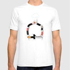 Home Mens Fitted Tee SMALL White