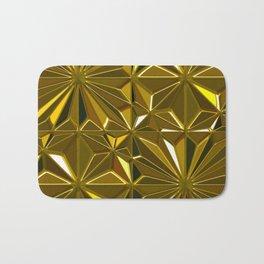 3-D Art Deco 24-Karat Gold Hues Tile Pattern Bath Mat