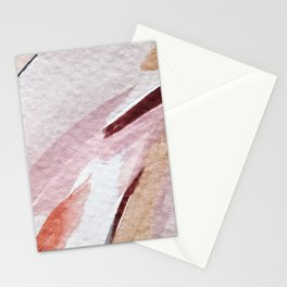Away [2]: an abstract mixed media piece in pinks and reds Stationery Cards