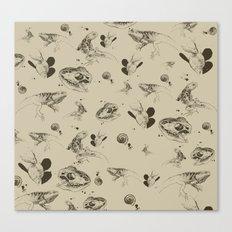 Lizards pattern (sepia) Canvas Print