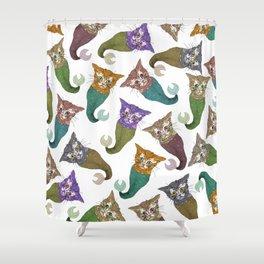 Cat Piranhas Shower Curtain