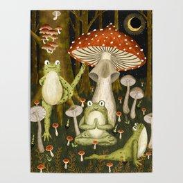 mushroom forest yoga Poster