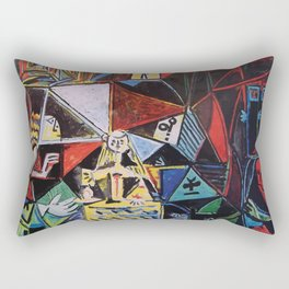 A roughly vectorised Picasso Rectangular Pillow