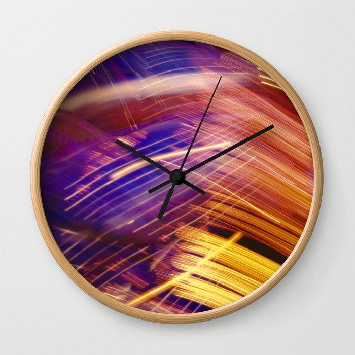 Criss Cross Craziness Wall Clock