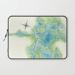 Go Home Lake - Nature Map Laptop Sleeve