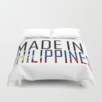 philippines Duvet Covers featuring Made In Philippines by VirgoSpice