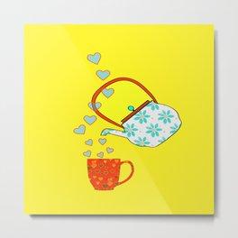 A Nice Cup Of Tea - Beverage Metal Print