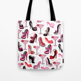 Retro Shoes and Pink Martinis Tote Bag