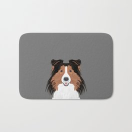 Jordan - Shetland Sheep Dog gifts for sheltie owners and dog people gift ideas perfect dog gifts Bath Mat