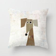 Odd Dachshund  Throw Pillow