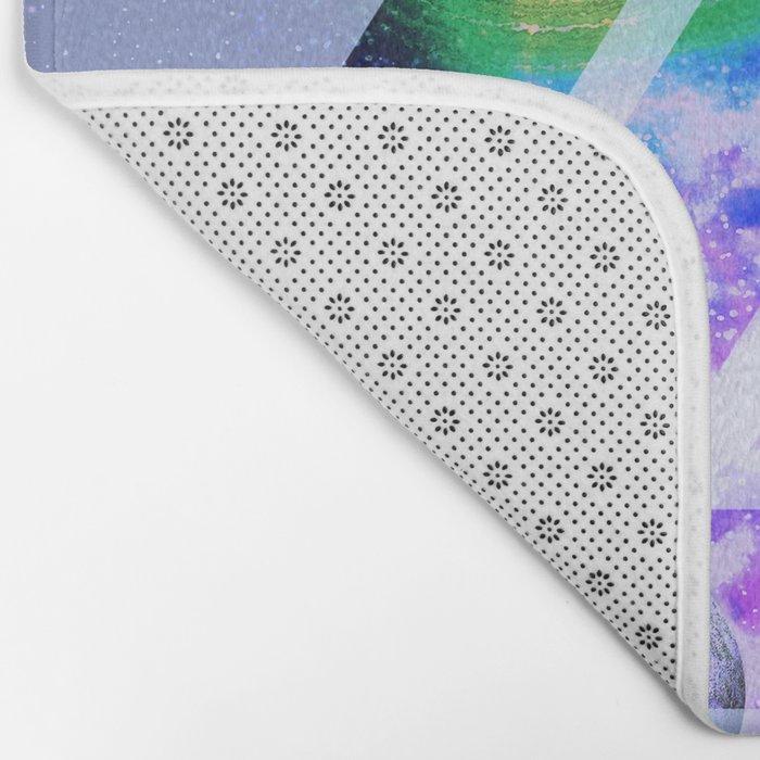The purple space Bath Mat