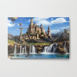 Waterfall City Metal Print