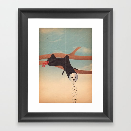 bradipo piangente Framed Art Print