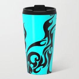 Cat blue Metal Travel Mug