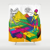 returns Shower Curtains featuring The mummy returns!  by vidhi shah