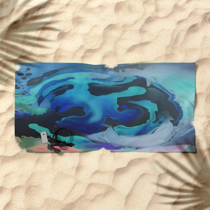 Swim with the Mermaids in the Great Natural Deep Blue Sea Beach Towel