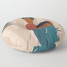 Black Dads Matter Floor Pillow