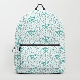 Teal branch damask Backpack
