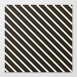 Molasses Diagonal Stripes Canvas Print