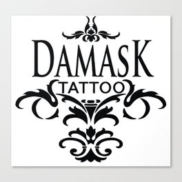 Damask Tattoo  Canvas Print