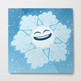Proud Snowflake Metal Print