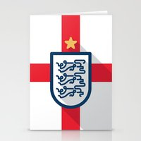 england Stationery Cards featuring England Minimal by Daniel Nyari