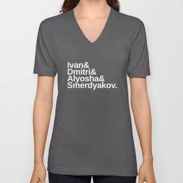 Dostoevsky The Brothers Karamazov Character List Unisex V-Neck