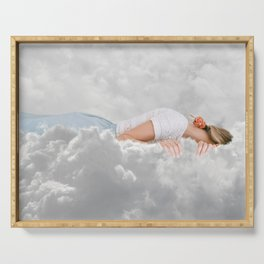 Whispering Clouds Serving Tray