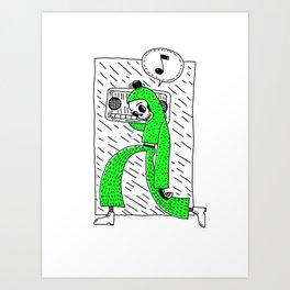 Boombox grn Art Print