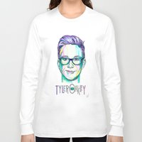 tyler spangler Long Sleeve T-shirts featuring Tyler Oakley  by Stephanie Shaw
