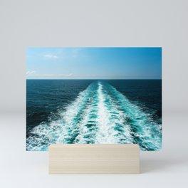 Wake From a Cruise Ship Mini Art Print
