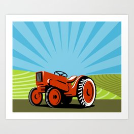Vintage Tractor Art Prints Society6