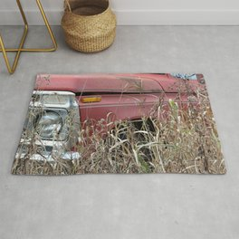 Old Truck in the Weeds Rug