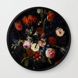 """Jan van Kessel the Elder """"Floral still life"""" Wall Clock"""