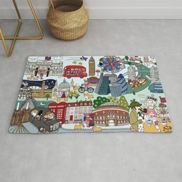 The Queen's London Day Out Rug