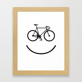 Smiley bike Framed Art Print