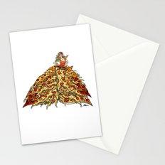 Pizza Peacock Mermaid Dress Stationery Cards