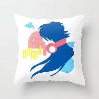 dramatical murder Throw Pillows featuring DRAMAtical Murder (Aoba) by MyobiArt