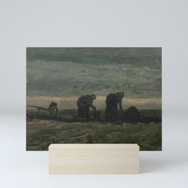 Two Women on the Peat Moor Mini Art Print