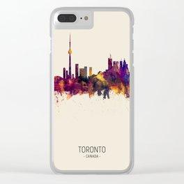 Toronto Canada Skyline Clear iPhone Case